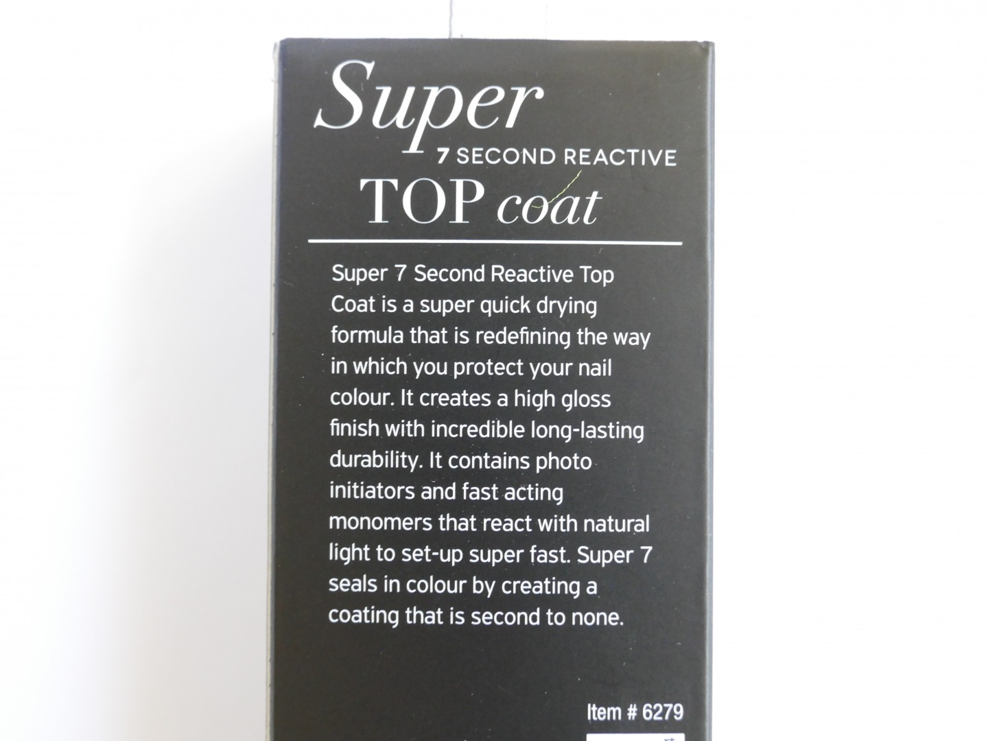 Super 7 Second REactive top coat
