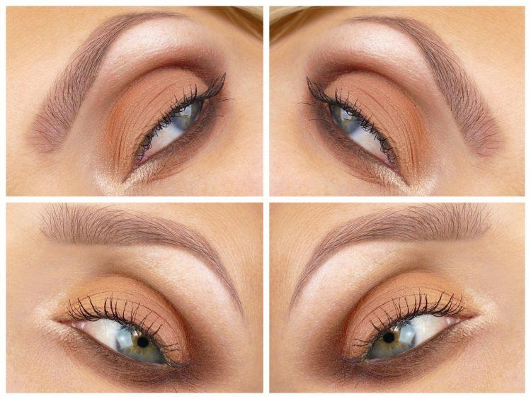 Orange ögonskugga