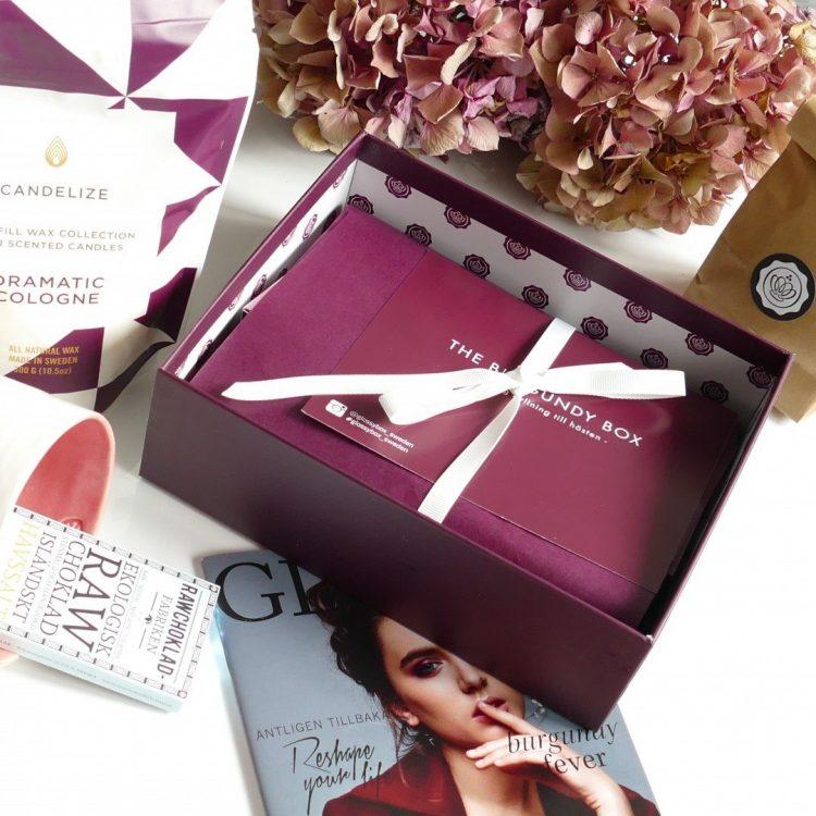 burgundy box