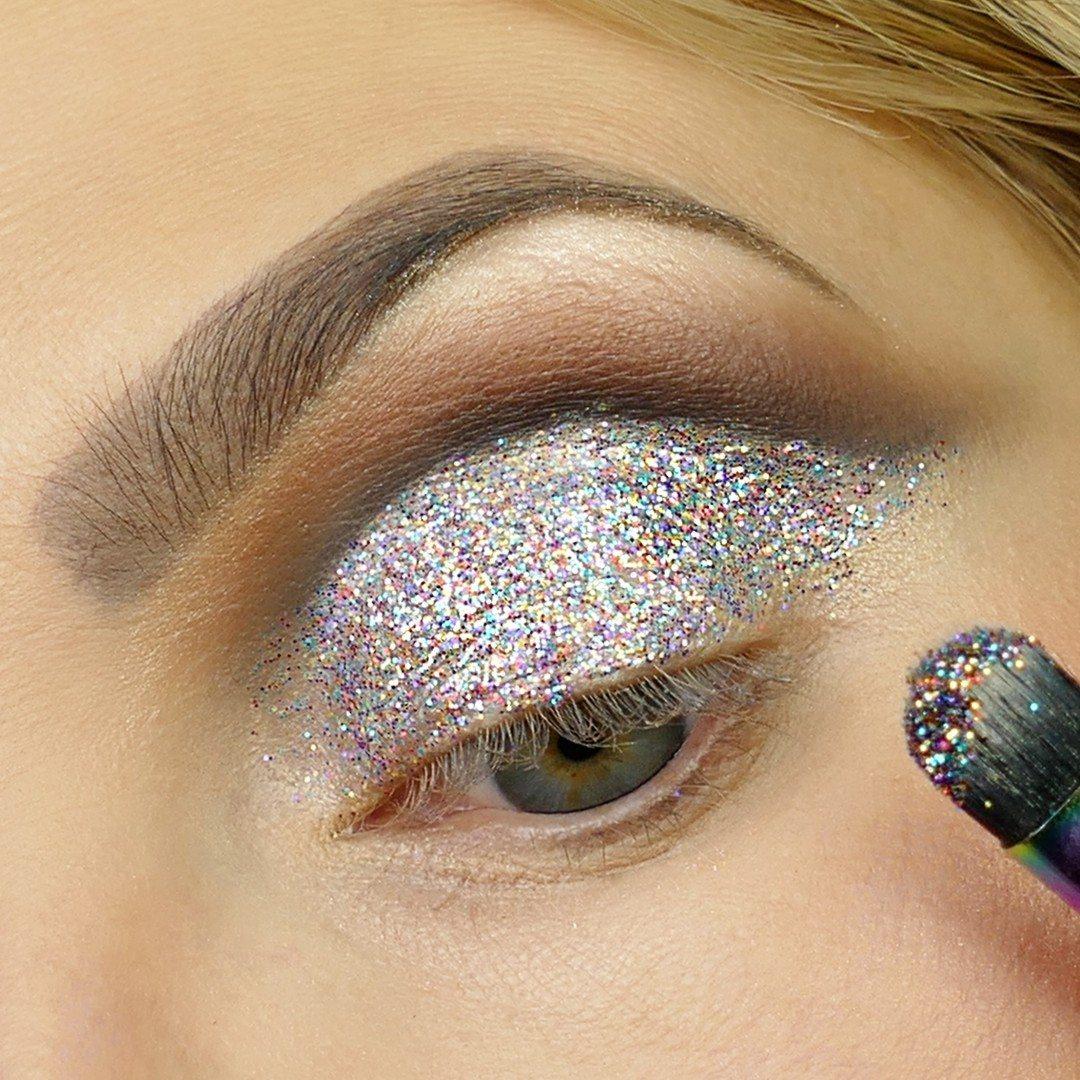 lim till glitter ögonskugga