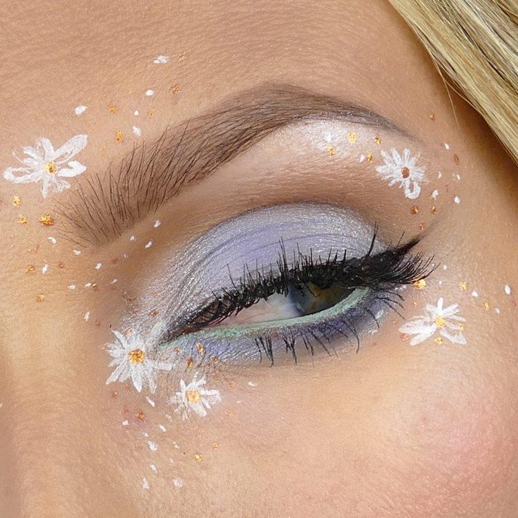 Midsommar makeup med blommor
