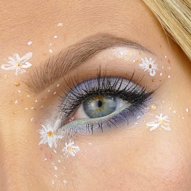 ljusblå makeup