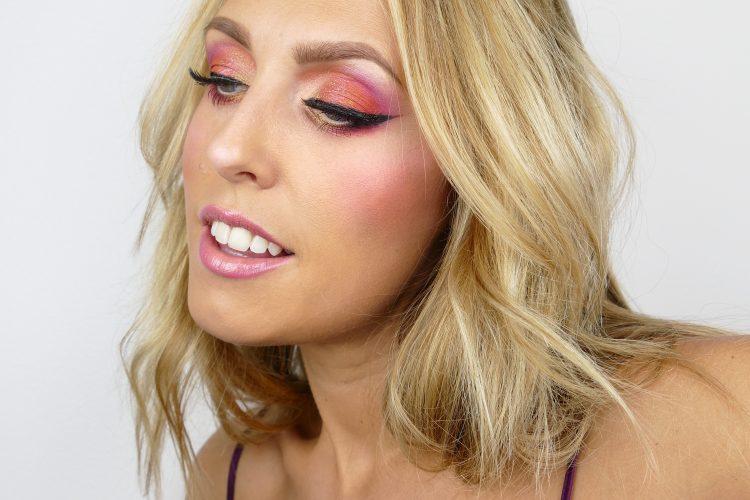 Dahlia inspirerad makeup i rosa
