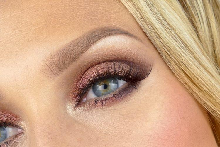 Makeup blå ögon