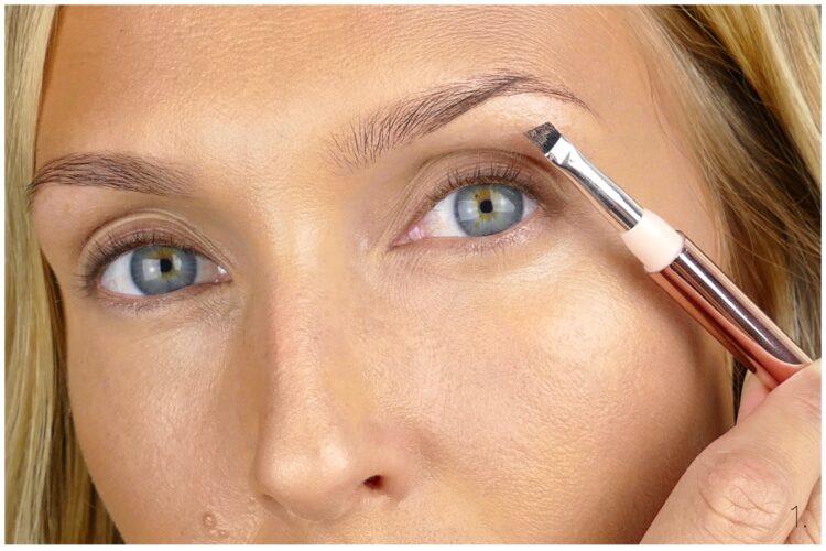 ögonbrynsgel med färg