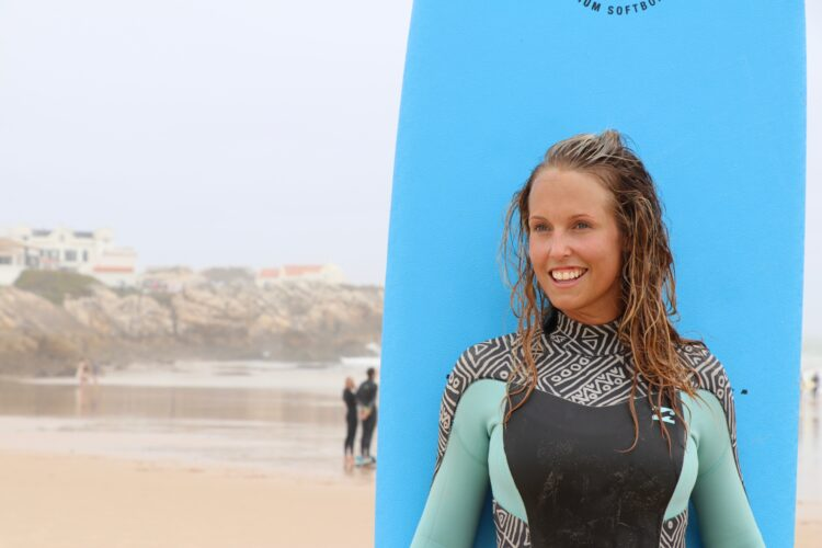 Flätat hår surf