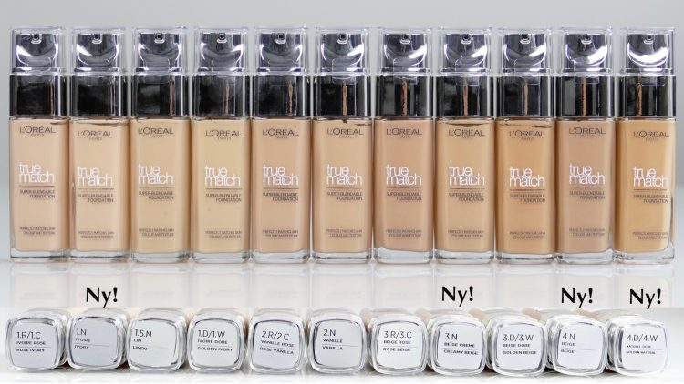 True Match Foundation Färger