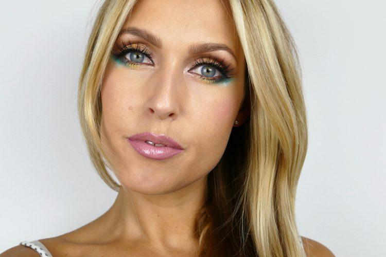 Färgglad måndags makeup