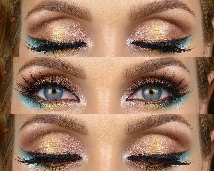 Makeupbylina färgglad ögonskugga