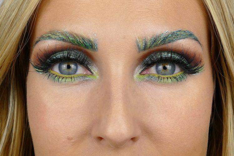grön brun makeup