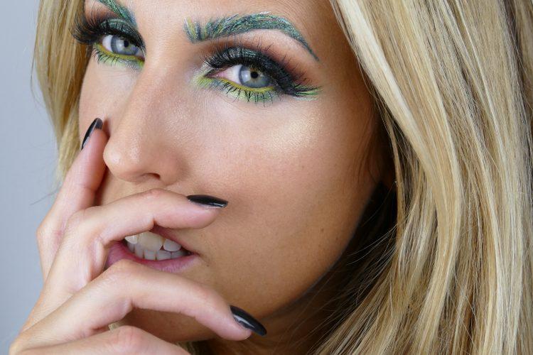 grön makeup