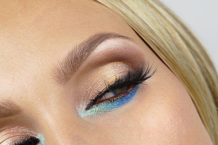 färgglad makeup