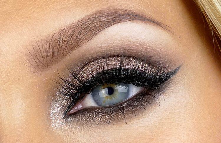 Bruna sotade ögon
