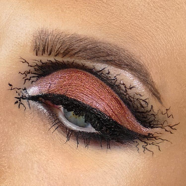 Halloween makeup ögon
