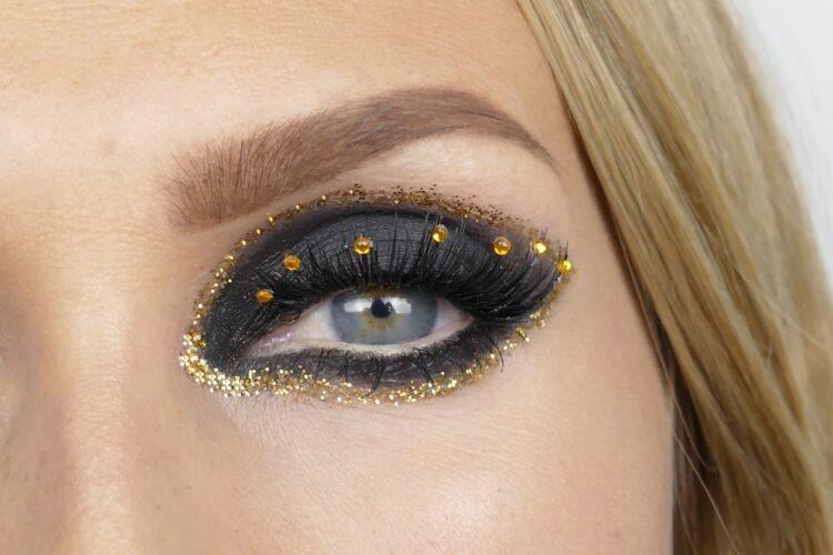 sotade ögon makeup glitter