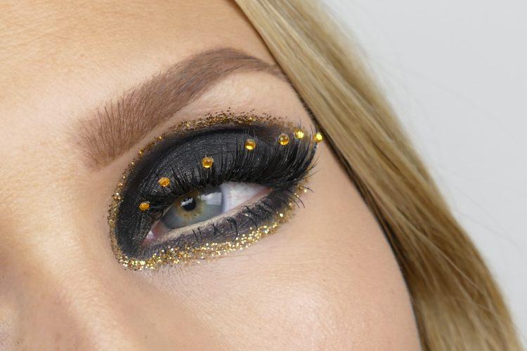 Guld makeup glitter