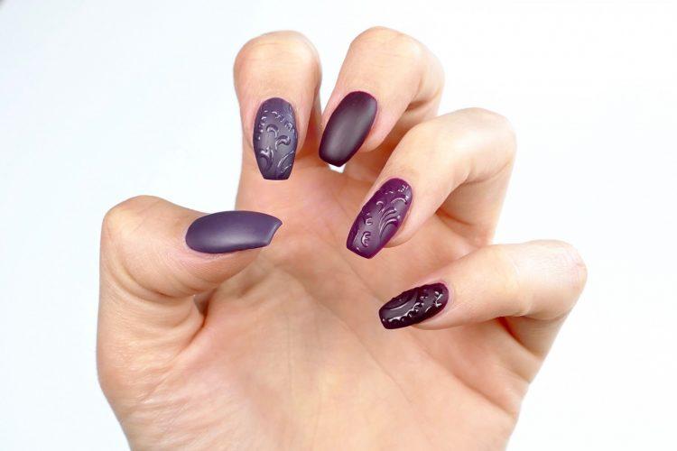 kreativa naglar i lila