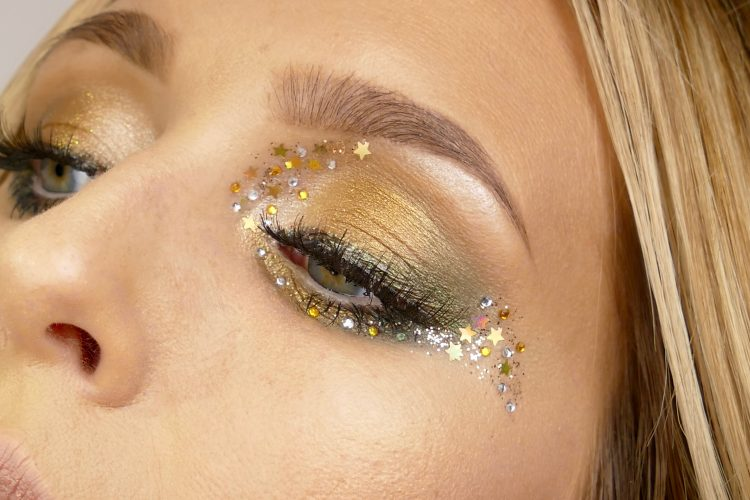 GlitterMakeup i Guld/Grönt till Nyår