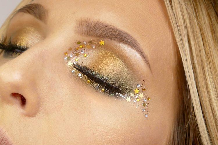 Nyårs makeup glitter
