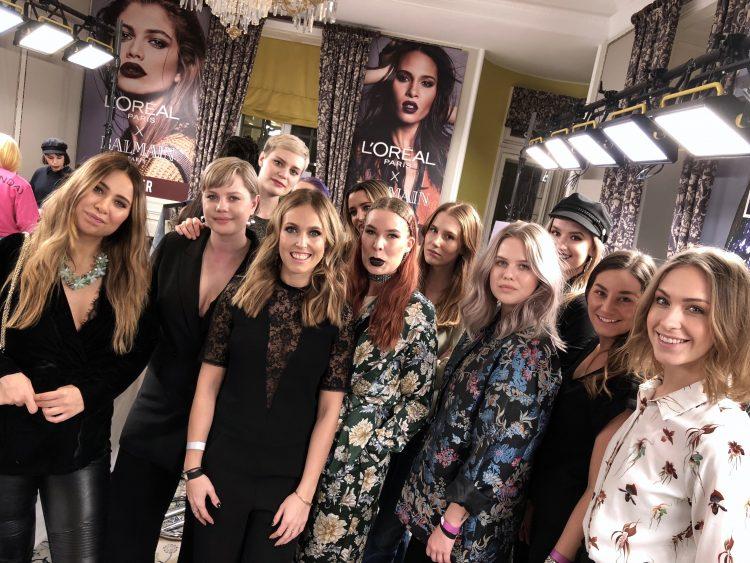 Makeup team elle galan 2018