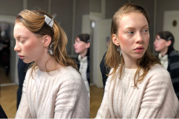 Milla modell backstage
