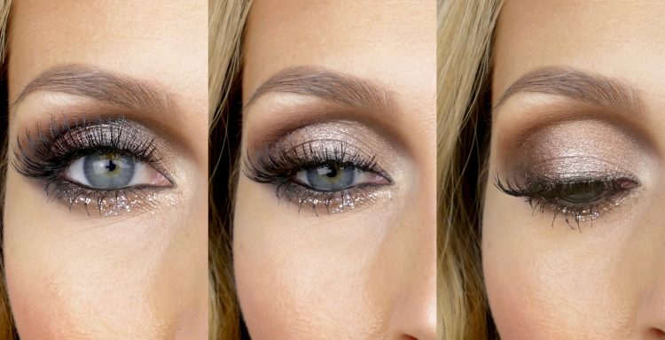 glitter eyeliner hooded eye