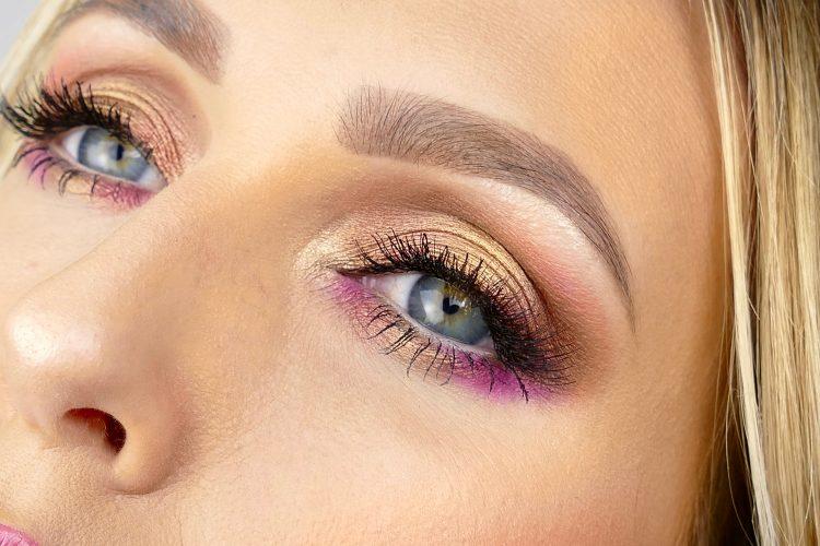 guld rosa makeup