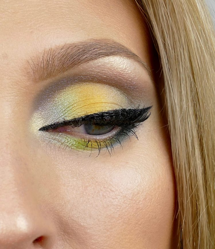 gul grön makeup