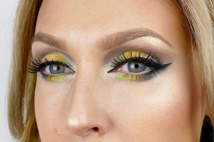 Gulgrönt med eyeliner