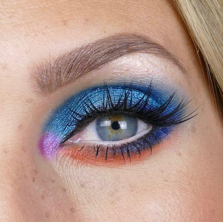 blå makeup