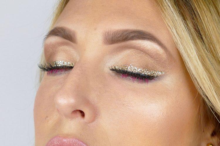 glitter eyeliner i guld