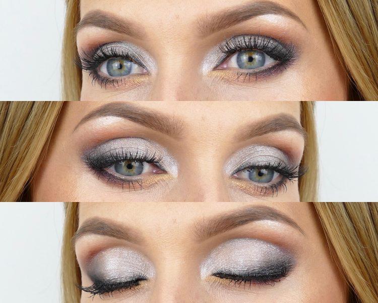 En Guld möter silver makeup