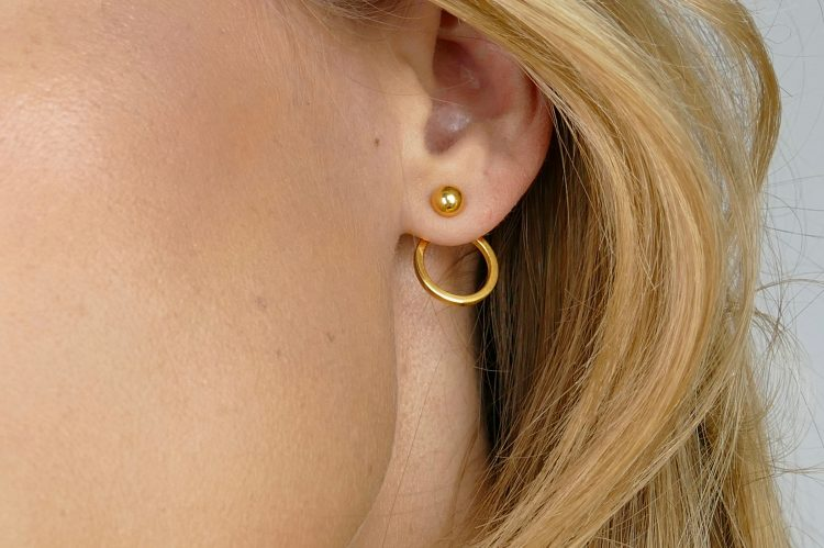 planet EArrings gold syster P