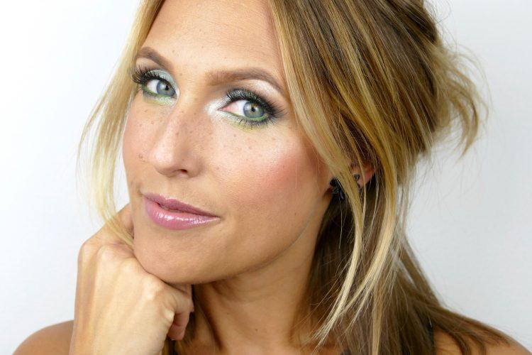 grön makeup sommar
