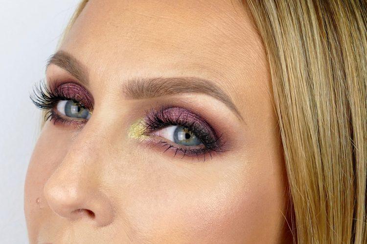 vinröd makeup