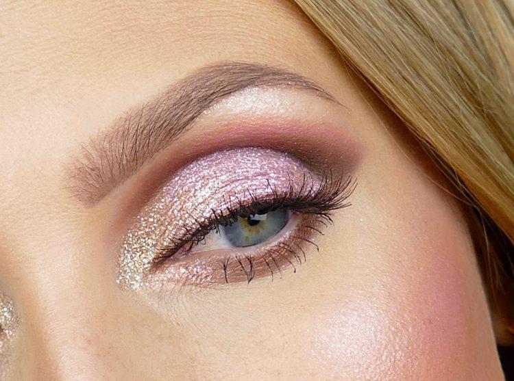 glitter rosa makeup