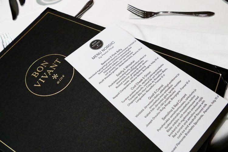 menu nordic bon vivant