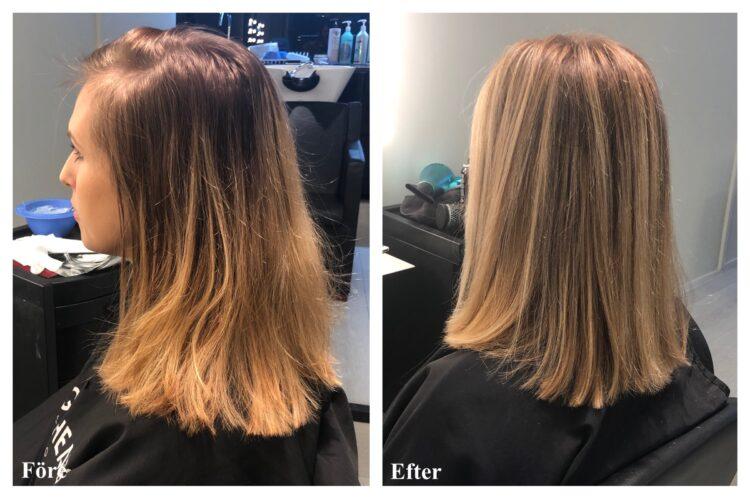hår före och efter