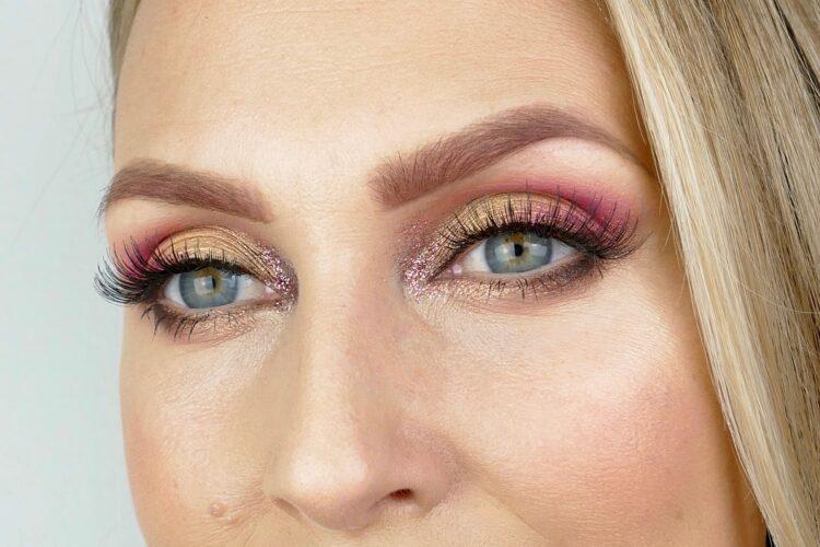 rosa makeup fransar