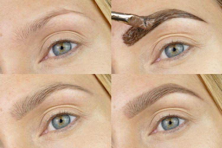 fuska fram snygga ögonbryn