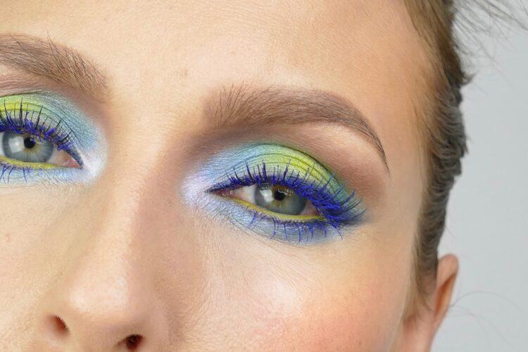 makeup blå mascara