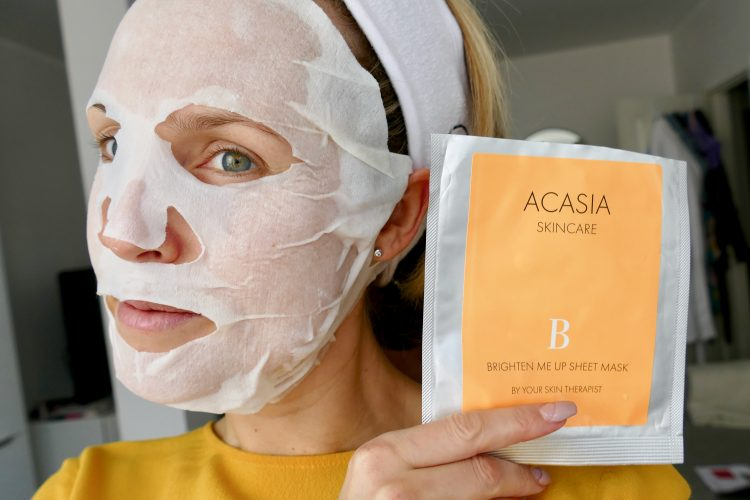 Acasia Skincare brighten sheet mask