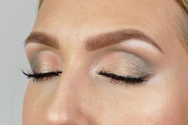 guld grön makeup