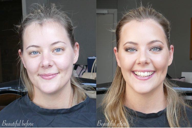 före och efter tärna sminkning