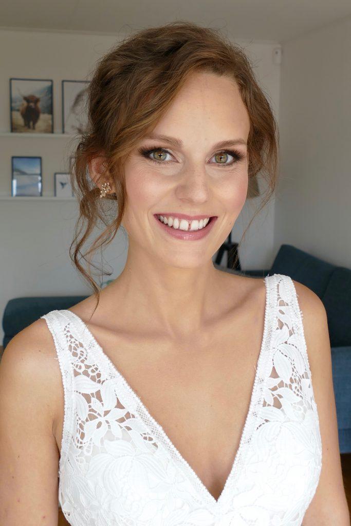 bröllopsmakeup brunette