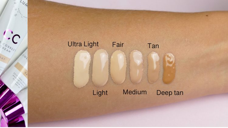 lumene foundation swatches cc