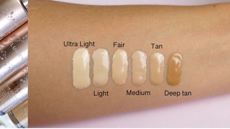 lumene foundation swatches glow