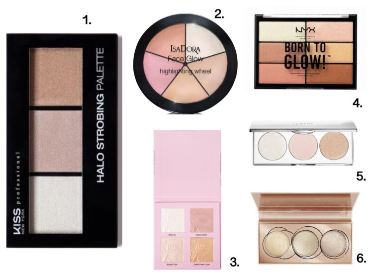 bästa highlighter palette budget
