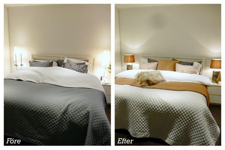 före och efter sovrum