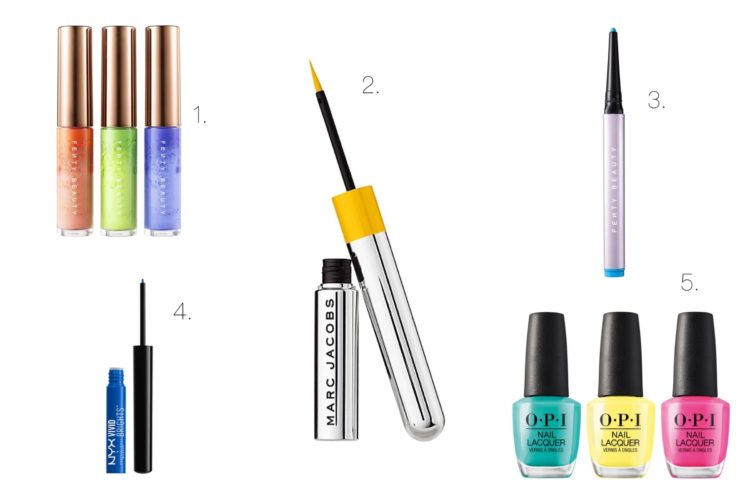 ss20 makeup trend neon